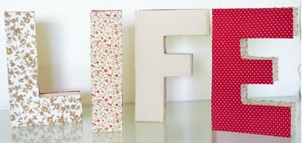 letras corporeas decoracion - Viniled